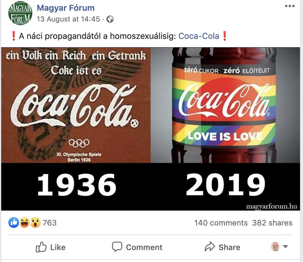 Printscreen a Magyar Fórum Facebook oldaláról.