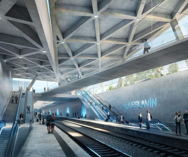 Az csupán a véletlenek különös egybeesése lehet, hogy a Csehországban is nagyon kedvelt budapesti 4-es metró állomásainak szerkezete és Veleslavín állomás között némi hasonlóság felfedezhető.